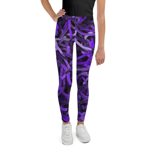Positive Pop Fashion - Positive Pop Youth Leggings - PURPLE MARTIN