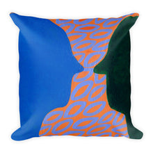 "Lifestyle Pillows - ""That's What It's All About"" - You & Me: Pillow Talk (purple leaves)"