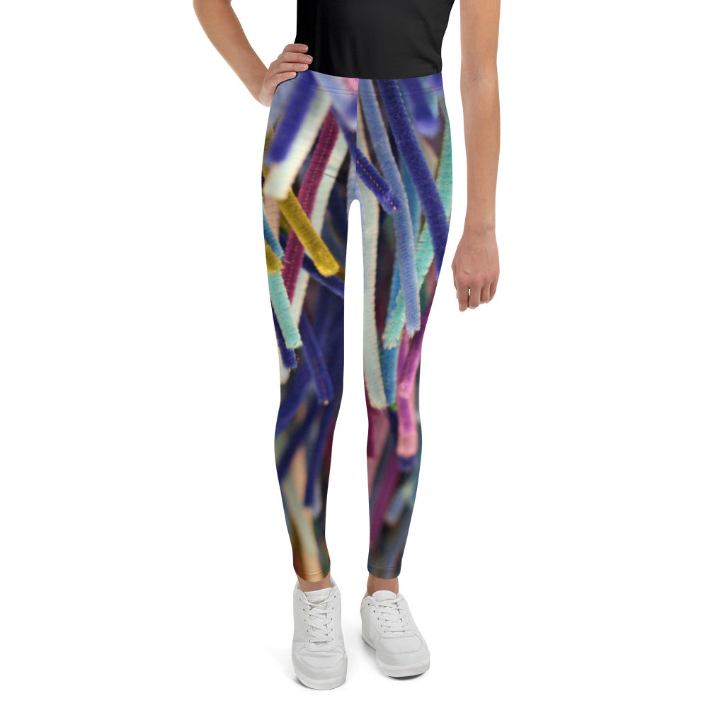 Positively Poppin' Fashion - Youth Leggings - BLUE MOON