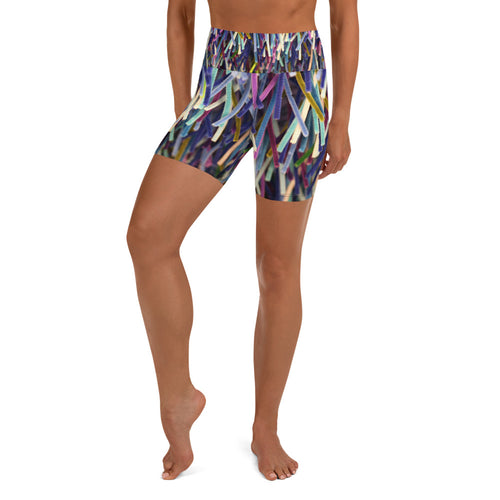 Positively Poppin' Fashion - Yoga Shorts - BLUE MOON