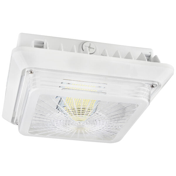 LED Parking Garage Fixture Hale Series | 100Watt | 13000Lm | 5000K | White housing - nothingbutleds.com