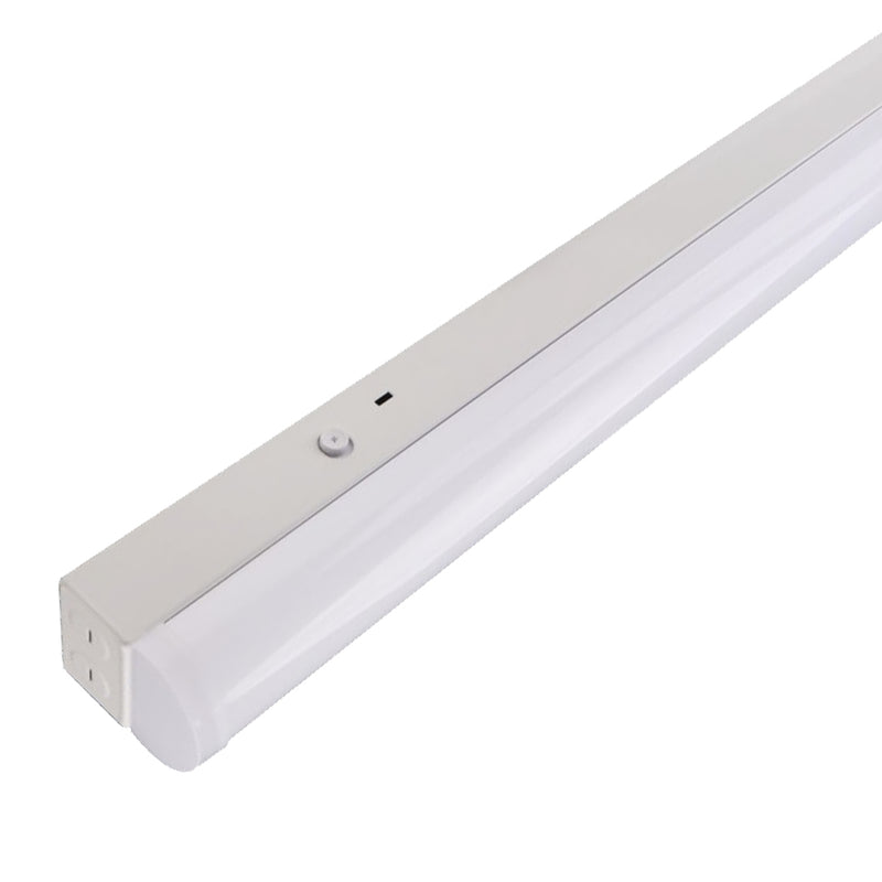 LED Linkable Strip Fixture Light Crisp Series | 8ft | Wattage Adjustable 70-60-50Watt | 9300Lumens | CCT Adjustable 3000K-4000K-5000K | Frosted Lens | Pack of 2 - nothingbutleds.com