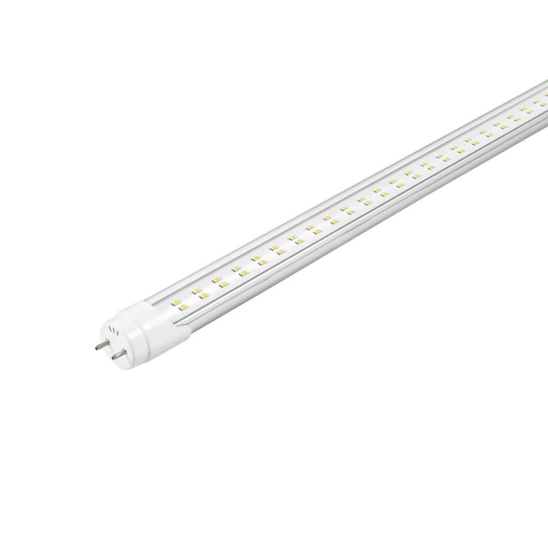 T8 4ft Led Tube Type B 18W 2160 lumens  5000k Clear. Single Ended Power - Case of 25