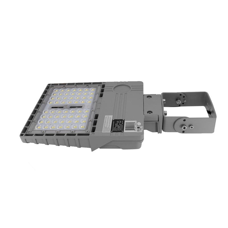 LED Area Light | 150 Watt | 21580 Lumens | 5000K | Yoke Mount | Grey Housing | UL & DLC Listed | 5 Years Warranty | Led Parking Lot Light | Led Street Light - nothingbutleds.com
