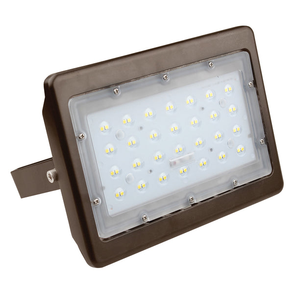 LED Flood Light | 50 Watt | 7048 Lumens | 5000K | Bronze Color | U Bracket | UL & DLC Listed | 5 Years Warranty