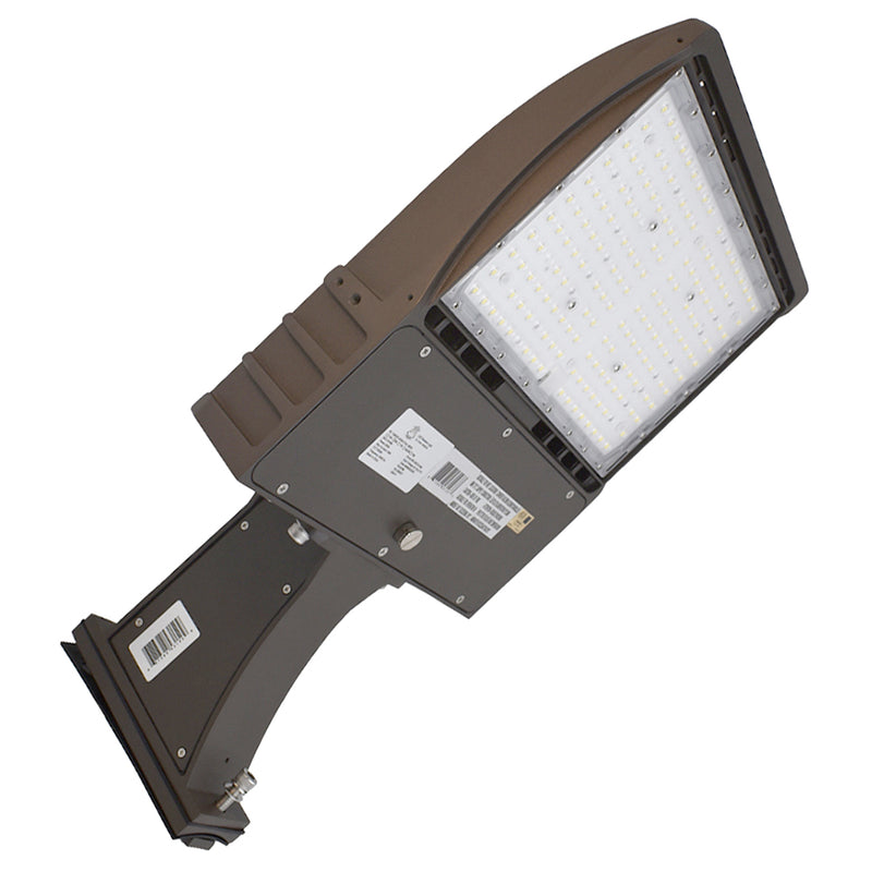 LED Area Light | LED Street Light | Led Parking Lot light | 100 Watt | 13200Lm | 5000K | Straight Arm Mount | Bronze housing | i9 Series | UL & DLC Listed - nothingbutleds.com