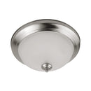 Euri Lighting EIN-CL39BN-2030e, 11 Inch, Dimmable Brushed Nickel Integrated LED Flush Mount Ceiling Light, 11 Watts, 900 Lumens, 3000K Soft White, Energy Star, Switchable Light Source (Pack of 2)