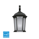 Euri Lighting EOL-WL18BRZ-1030e Integrated Outdoor LED Wall Lantern with Black Aluminum Carriage-Inspired Style Die Cast