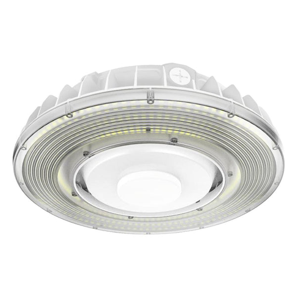 LED Parking Garage Light KP Series | 55Watt | 6297Lm-7546Lm | Adjustable CCT 3000K-4000K-5000K | White housing - nothingbutleds.com