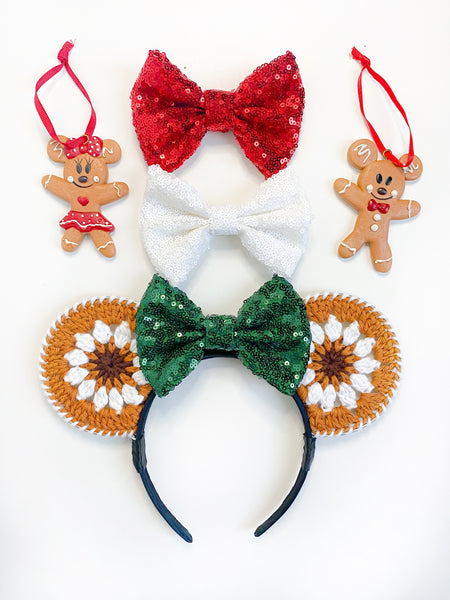 Crochet Ears - Gingerbread Mouse