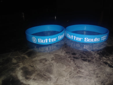 Gutter Souls Turquoise wristband and white letters