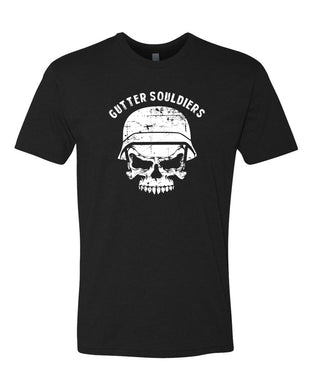 Gutter Souldiers men's black shirt and white letters