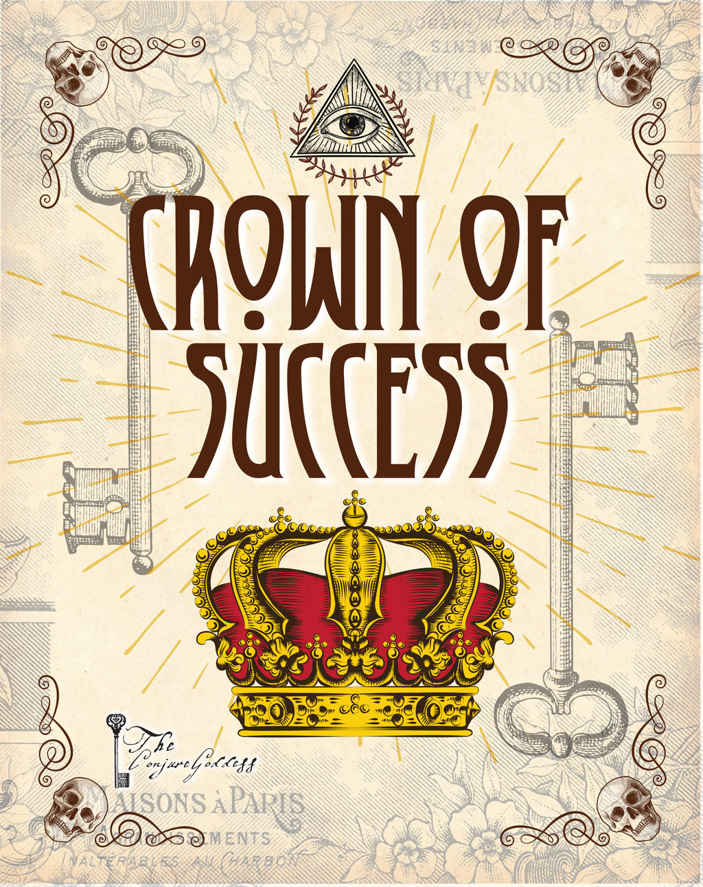 Crown Of Success fixed candle - The Conjure Goddess