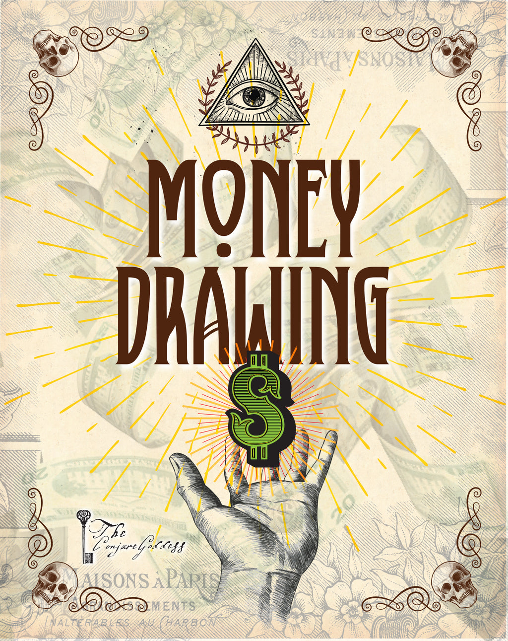 Money Drawing Fixed  Candle - The Conjure Goddess