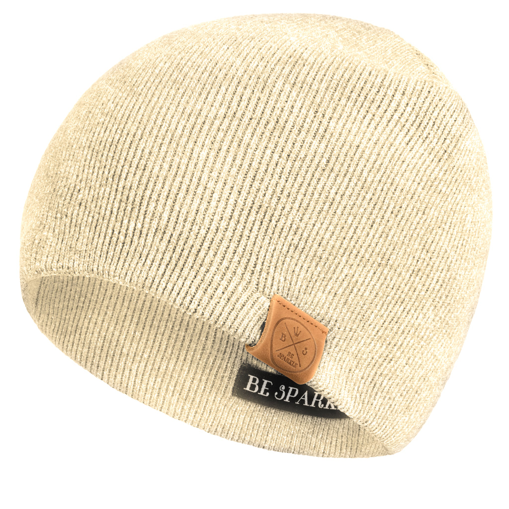 UNISEX BEANIE (BEIGE) - Be Sparkle Fashion