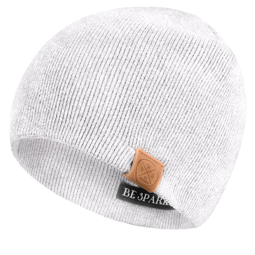 UNISEX BEANIE (WHITE) - Buy Be Sparkle , Fight Cancer
