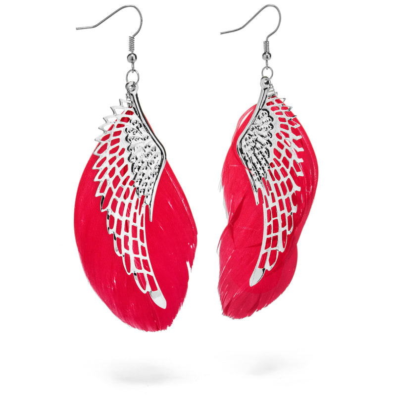 ANGEL EARRINGS (RED) - Buy Be Sparkle , Fight Cancer