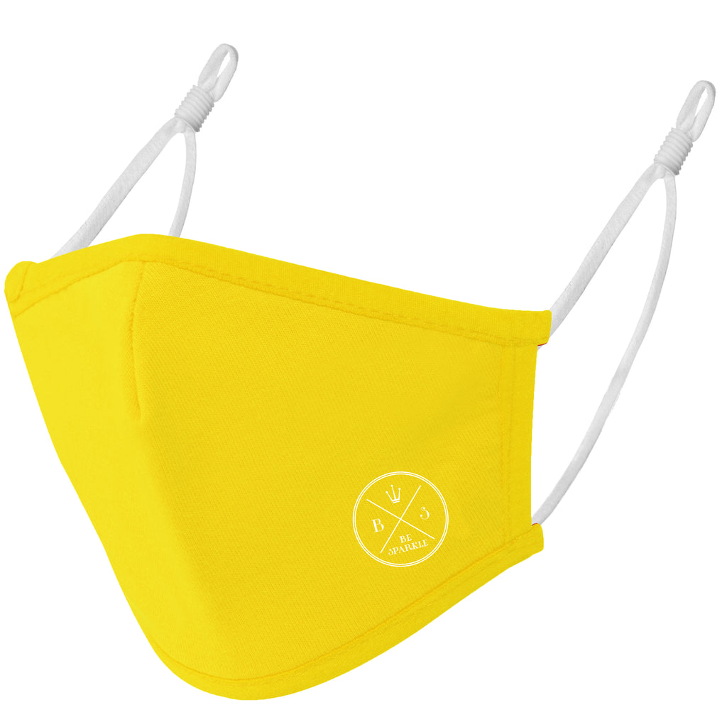 ADULT FACE MASK (YELLOW) - Be Sparkle Fashion