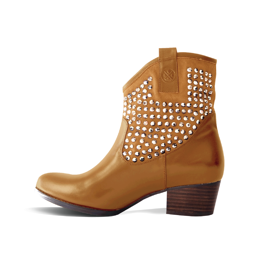 ANKLE BOOTS (BEIGE) - Be Sparkle Fashion