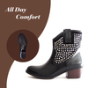 ANKLE BOOTS (BLACK) - Be Sparkle Fashion