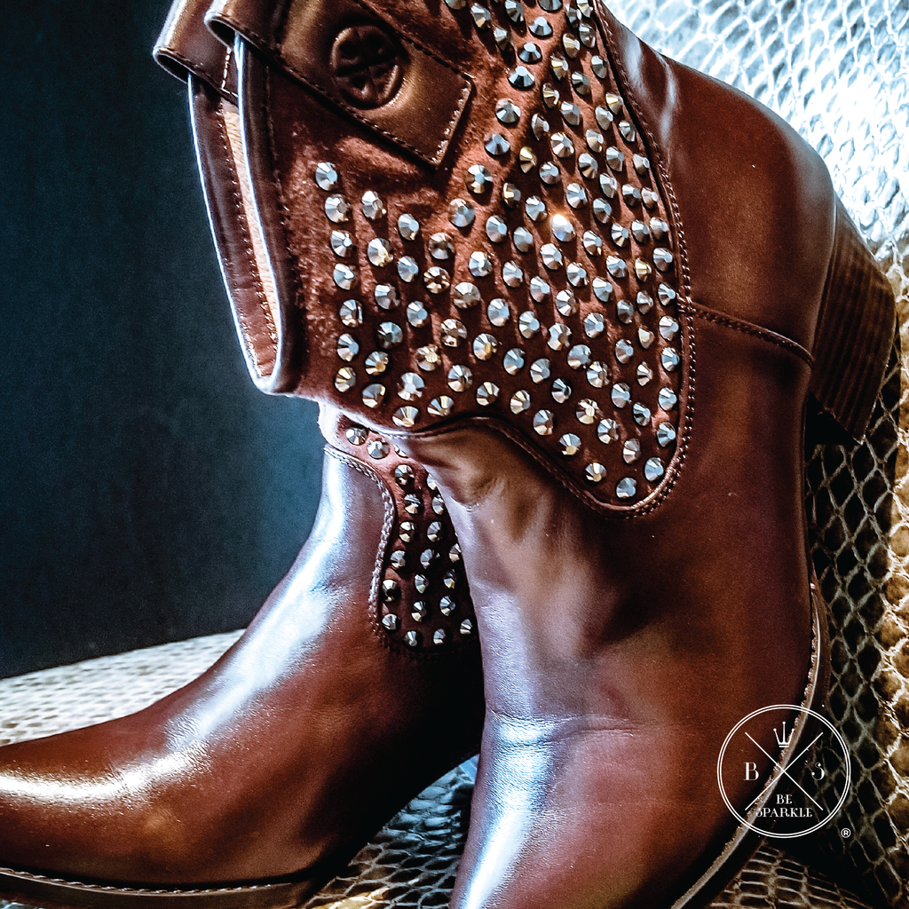 ANKLE BOOTS (BROWN) - Buy Be Sparkle , Fight Cancer