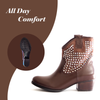 ANKLE BOOTS (BROWN) - Be Sparkle Fashion