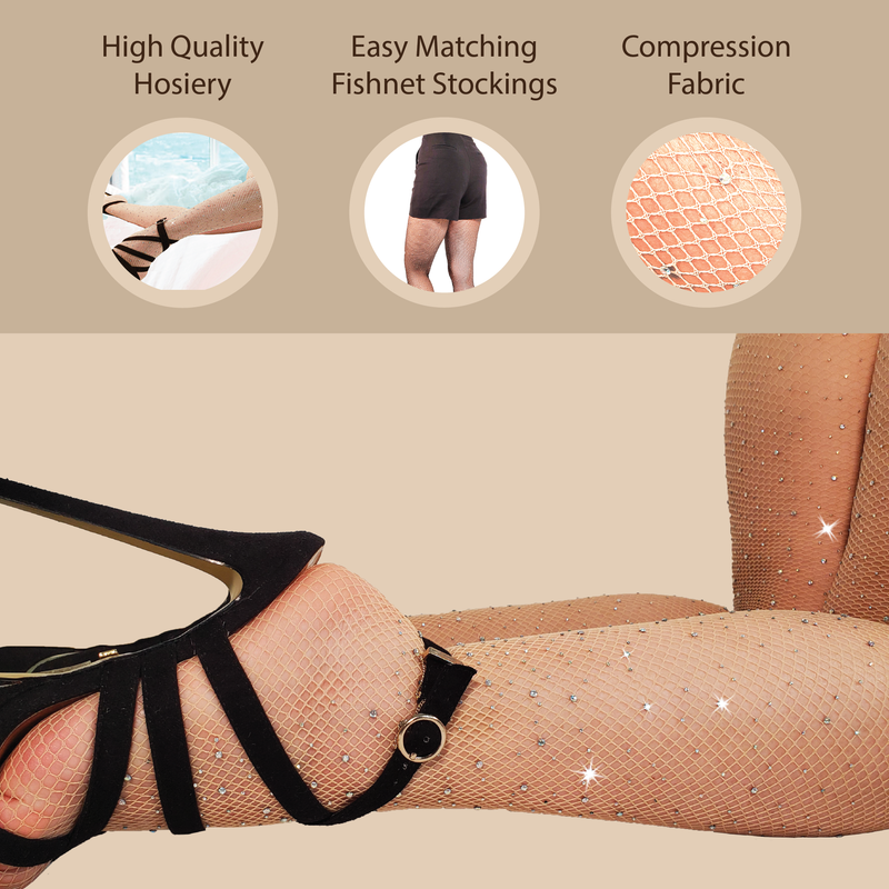 RHINESTONES TIGHTS (NUDE) - Be Sparkle Fashion