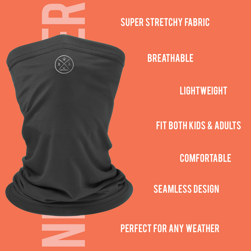 ADULT NECK GAITER FACE MASK (BLACK) - Buy Be Sparkle , Fight Cancer