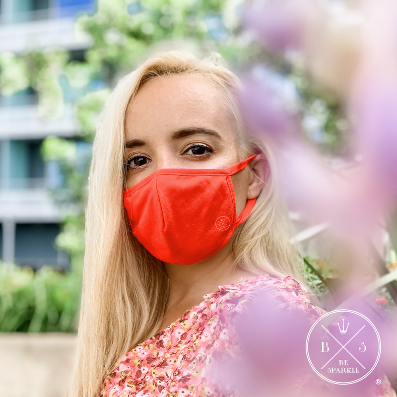 ADULT FACE MASK (RED) - Buy Be Sparkle , Fight Cancer