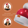 LED POM BEANIE (RED) - Be Sparkle Fashion