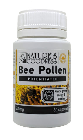 ACTIVE BEE POLLEN 500mg 60 Capsules