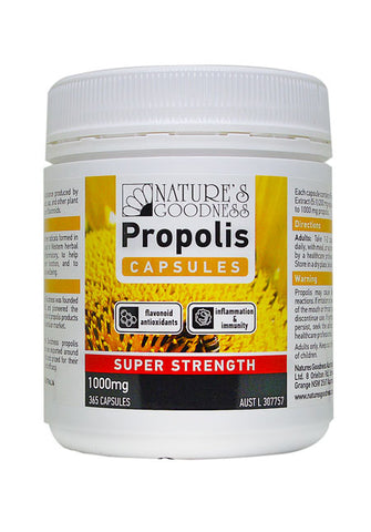 PROPOLIS SUPER STRENGTH 1000mg 100/365 Capsules