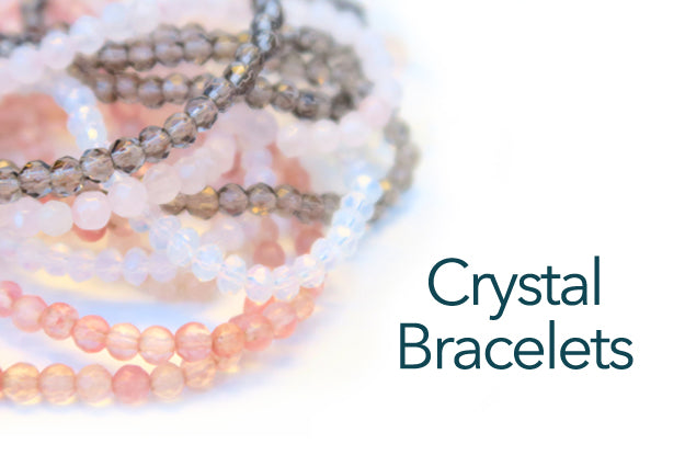 Delicate faceted gemstones to fill your arm...