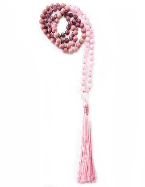 TRUE HEART OMBRE - Blush Heart Chakra Ombre Mala