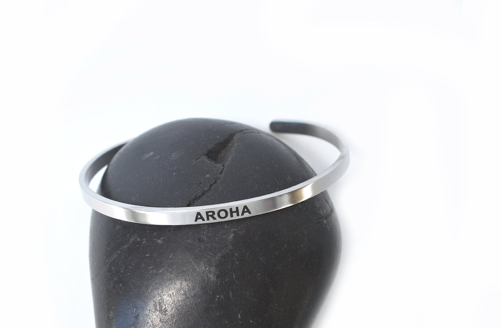 AROHA- Stainless Steel Cuff Bracelet for Women and Men - Pranachic
