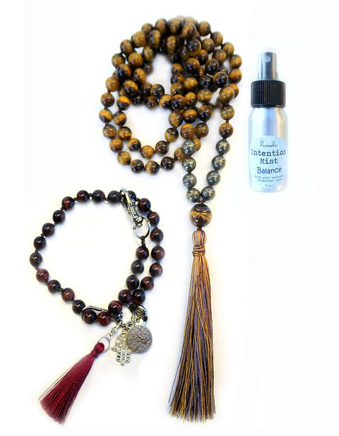 Balance Collection - TRUE NORTH Mala, Pratinu Balance Mala Bracelet and Balance Intention Mist
