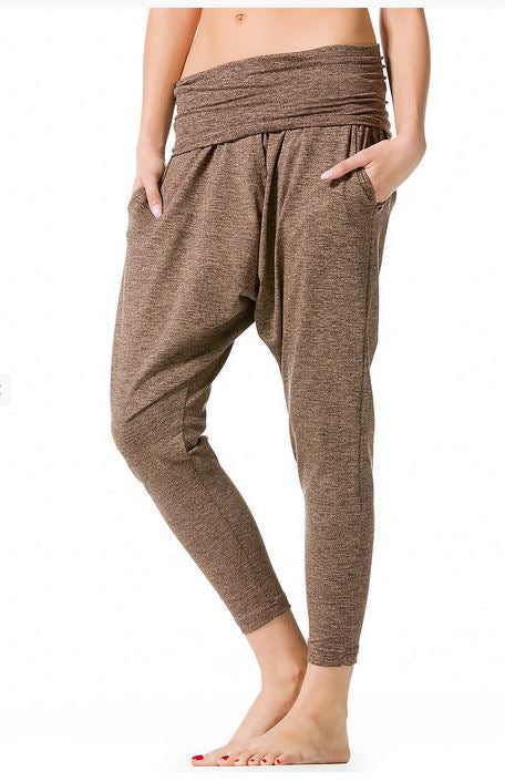 Rolldown Slouchy Drop Crotch Pants - Pranachic