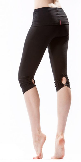 Button Back Knee Leggings - Pranachic