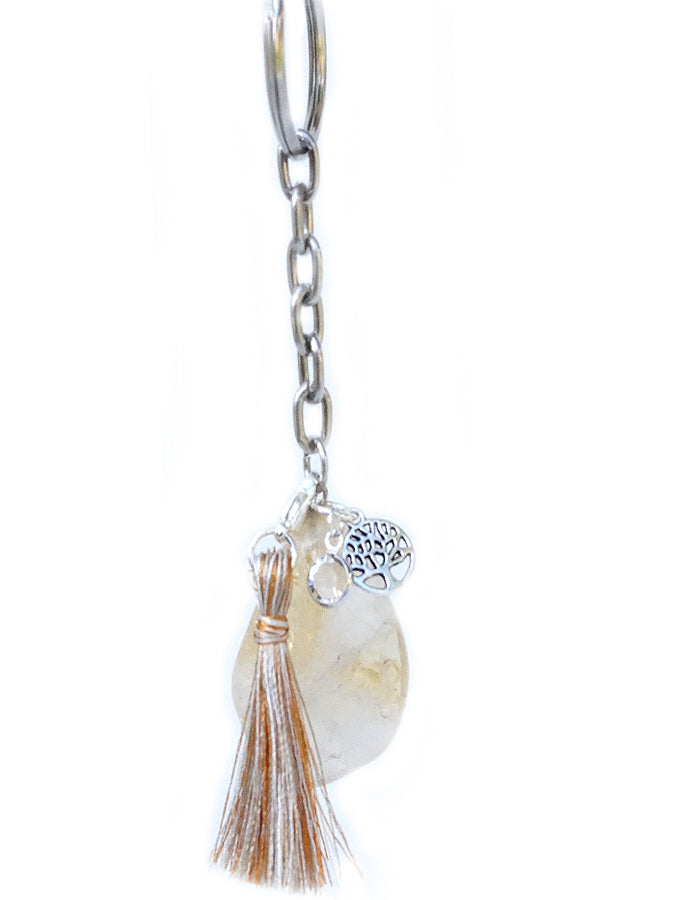 Citrine Key Ring