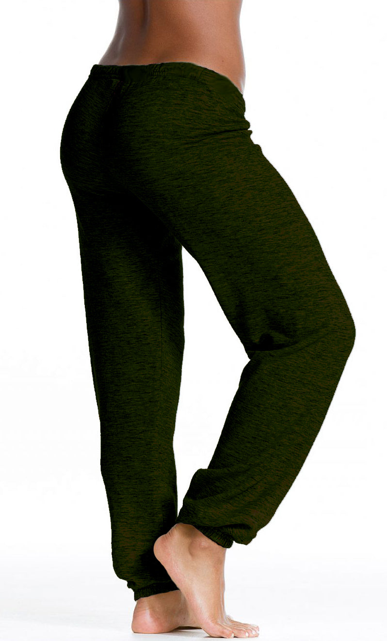 Heathered Fleece Sparkle Sweatpants - Pranachic