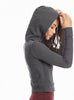 Crop Thermal Lace Up Hoodie - Pranachic