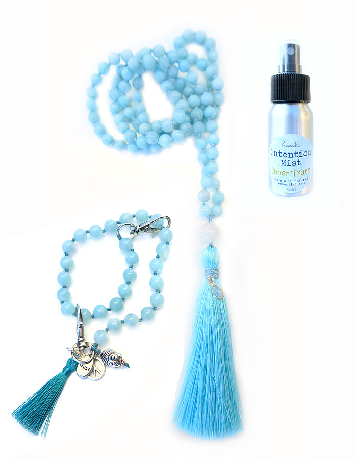Inner Truth Collection - TRUE PATH Mala, Pratinu Inner Truth Mala Bracelet and Inner Truth Intention Mist - Pranachic