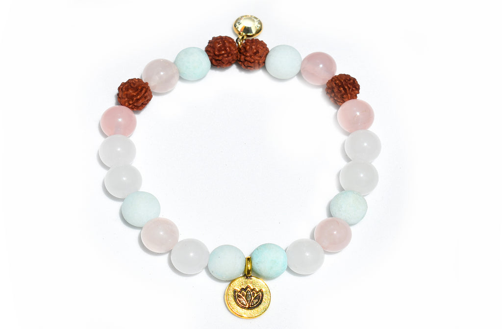 Golden Lotus Love Bracelet - Pranachic