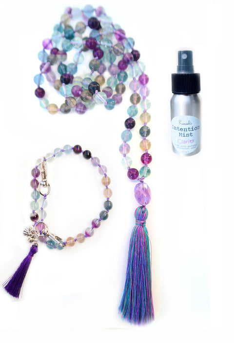 Clarity Collection - TRUE SIGHT Mala, Pratinu Clarity Mala Bracelet and Clarity Intention Mist - Pranachic