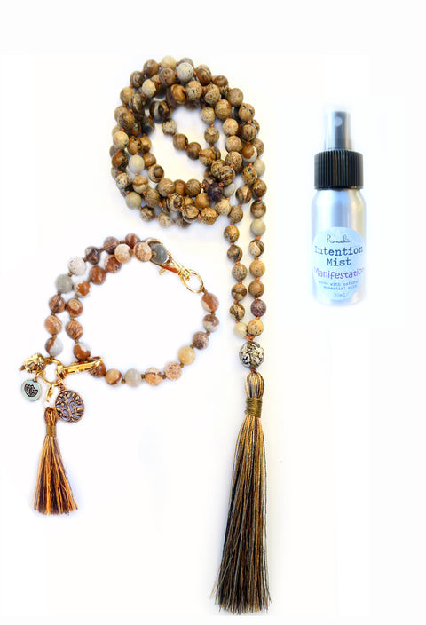 Manifestation Collection - TRUE MAGICIAN Mala, Pratinu Manifestation Mala Bracelet and Manifestation Intention Mist - Pranachic