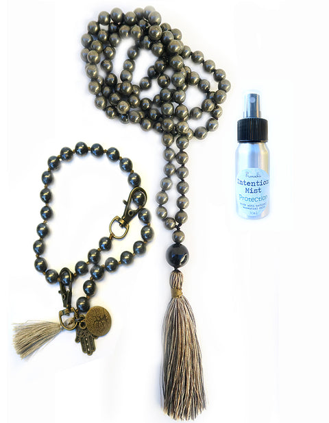 Protection Collection - TRUE GUARDIAN Mala, Pratinu Spirit Mala Bracelet and Protection Intention Mist - Pranachic