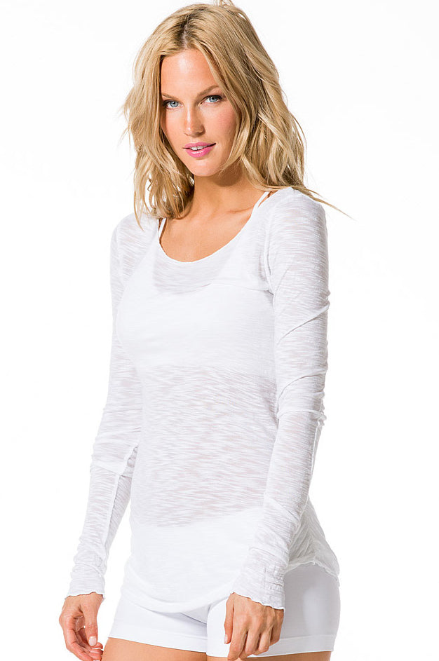 Long Sleeve Ruched T - Pranachic