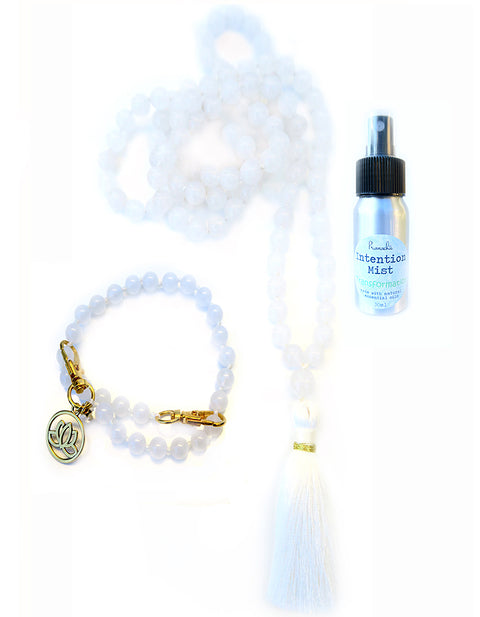 Transformation Collection - TRUE ANGEL Mala, Pratinu Transformation Mala Bracelet and Transformation Intention Mist - Pranachic