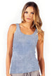 Long Ribbed Tank - with Mineral Wash - Pranachic