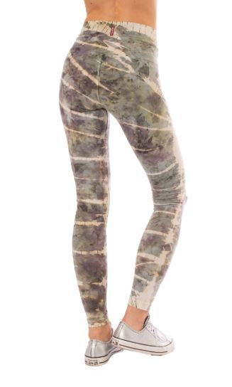 Hi Rise Ankle Leggings with Storm Wash Tie Dye